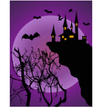 halloween invitation or background vector image