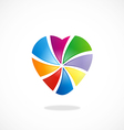 love colorful shape logo vector image
