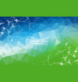 abstract blue green polygonal space background vector image