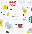 abstract memphis geometric color shape business vector image vector image