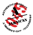 Authentic jamaican product stamp vector image vector image
