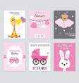 baby shower invitations vector image