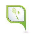 badminton GREEN pointer vector image