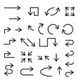 black arrows set large collection of icons vector image vector image