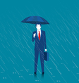 Businessman holding an umbrella vector image