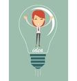 Businesswoman create idea vector image vector image