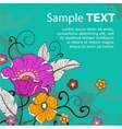 Card with flowers grunge vector image