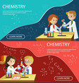 chemistry lesson children school elementary class vector image