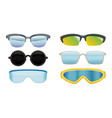 collection sunglasses and spectacles vector image vector image
