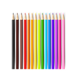 Color pencil on white background with 001 vector image vector image