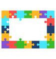 color puzzle frame vector image vector image