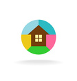 Colorful house logo vector image