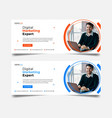 corporate facebook cover template designweb and s vector image vector image