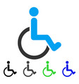 disabled person flat icon vector image vector image