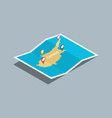 explore cyprus maps with isometric style and pin vector image vector image