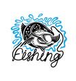 fishing icon on white background vector image