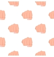Fist bump icon in cartoon style isolated on white vector image vector image