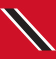 flag of trinidad and tobago vector image vector image