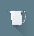 flat coffee barista milk pitcher icon vector image vector image