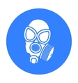 Gas masks icon black Single weapon icon from the vector image vector image