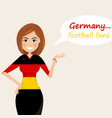 germany football fanscheerful soccer fans sports vector image vector image