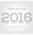 Happy New Year 2016 colorful greeting card made vector image vector image