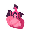 happy women friends hugging together isolated vector image