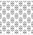 heart black seamless pattern vector image vector image