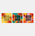 hello autumn greeting card template set fall vector image vector image