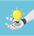 isometric ai artificial intelligence robot hand vector image vector image