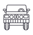 jeep front view line icon sign vector image