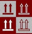 logistic sign of arrows bordo and white vector image vector image