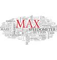 max word cloud concept vector image vector image