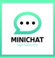 mini chat logo vector image vector image