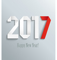 New 2017 year greeting card vector image vector image