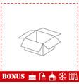 open box icon flat vector image vector image