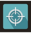 Optical sight icon flat style vector image vector image