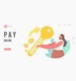 pay online electronic transaction payment landing vector image