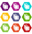 podium fashion belt icons set 9 vector image