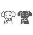 police dog line and glyph icon guard and pet vector image