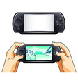 portable gamepad vector image vector image
