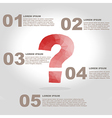 question mark polygon infographic element with vector image vector image