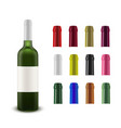 realistic layout a wine bottle and a vector image vector image