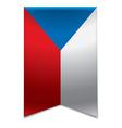 Ribbon banner - czech republic flag vector image vector image