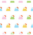 seamless colorful fuji mountain pattern background vector image