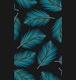 seamless pattern with palms leaf vector image vector image
