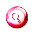 search magnifyier web button magnify icon modern vector image vector image