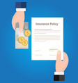 selling insurance policy insurance claim vector image vector image