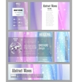 Set of business templates for presentation vector image