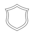shield security emblem vector image vector image